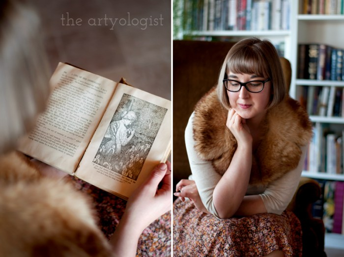 Sustainable Shopping: A Swedish Stockings Review, the artyologist, vintage books and outfit