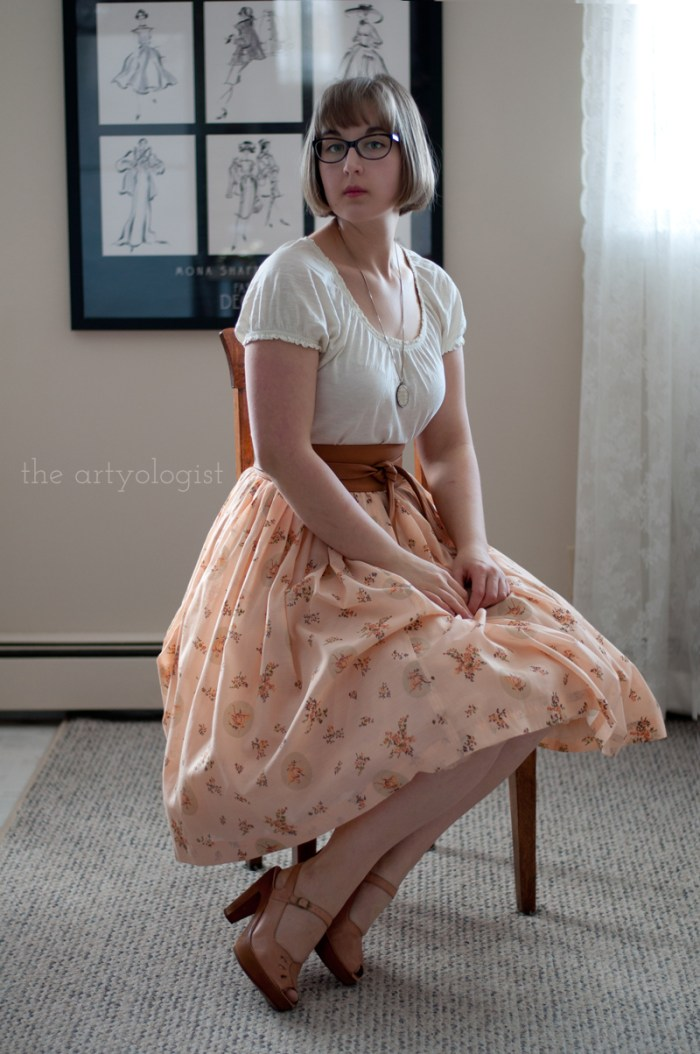 Peachy Keen Valentine's Day Outfit, the artyologist, fifties style skirt