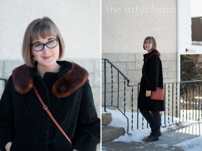 Vintage Modern Mix: Astra Fur & Denim, the artyologist, coat