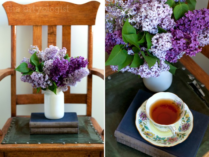 Lilacs to Welcome the First Day of Spring, tea cup, the artyologist