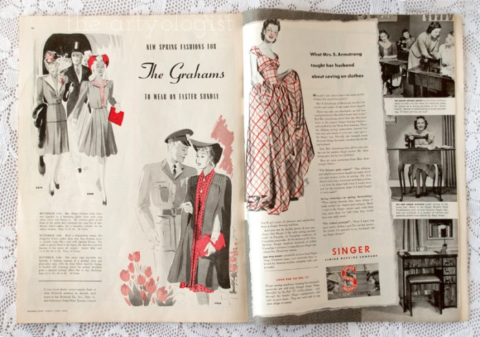 what the grahams will wear, Canadian Home Journal 1941 the artyologist