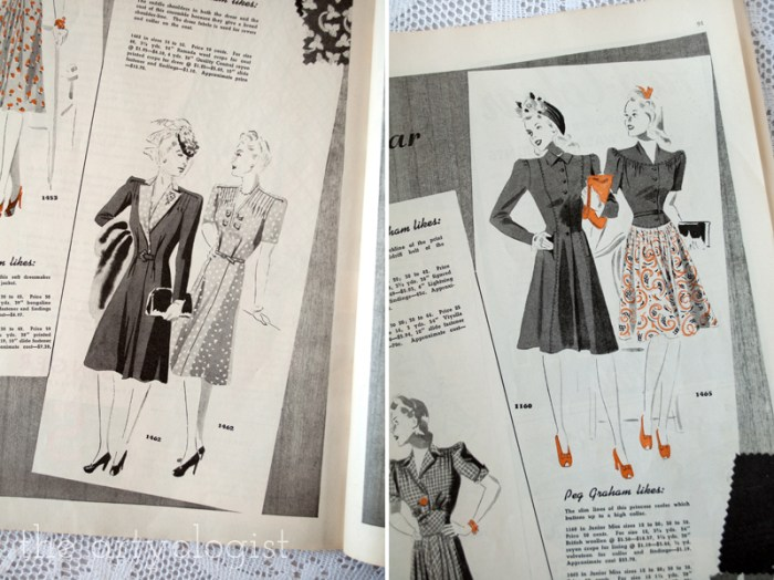 butterick dresses, canadian home journal, butterick 1462 and butterick 1160, the artyologist