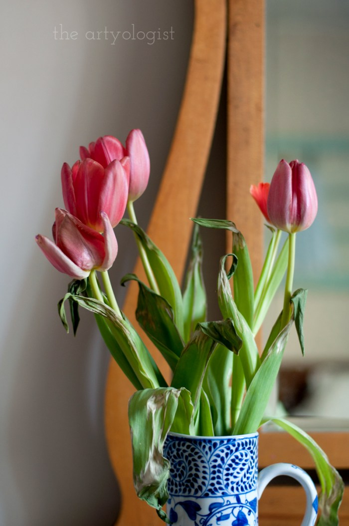 tulips-on-dresser, the artyologist
