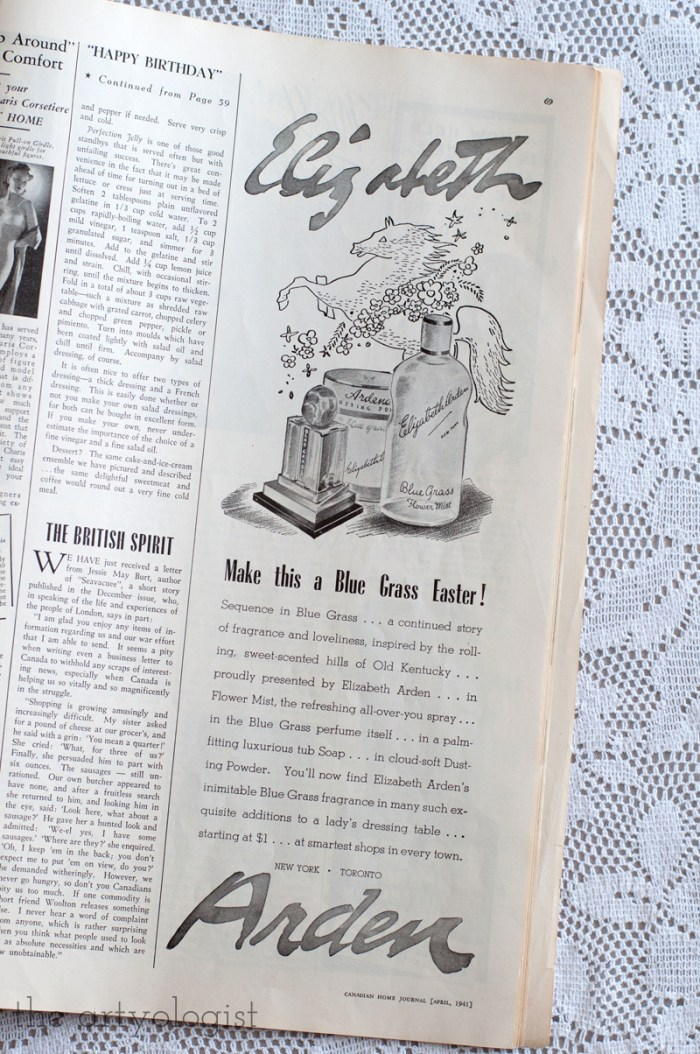 Vintage 1941 Elizabeth Arden ad
