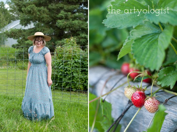 in the strawberry garden