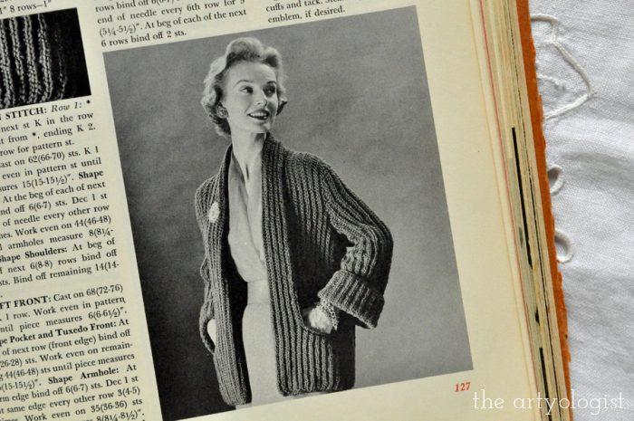 a boxy open vintage cardigan