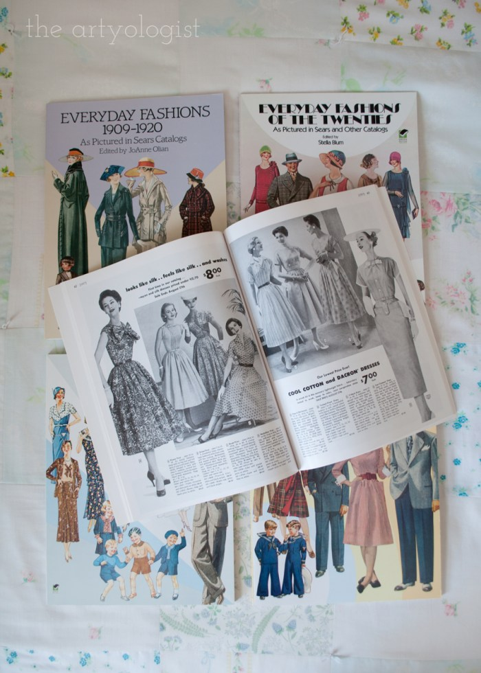 covers and one page of the everyday fashions series of books