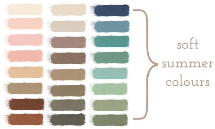 "colour palette for ""soft summer"" season"