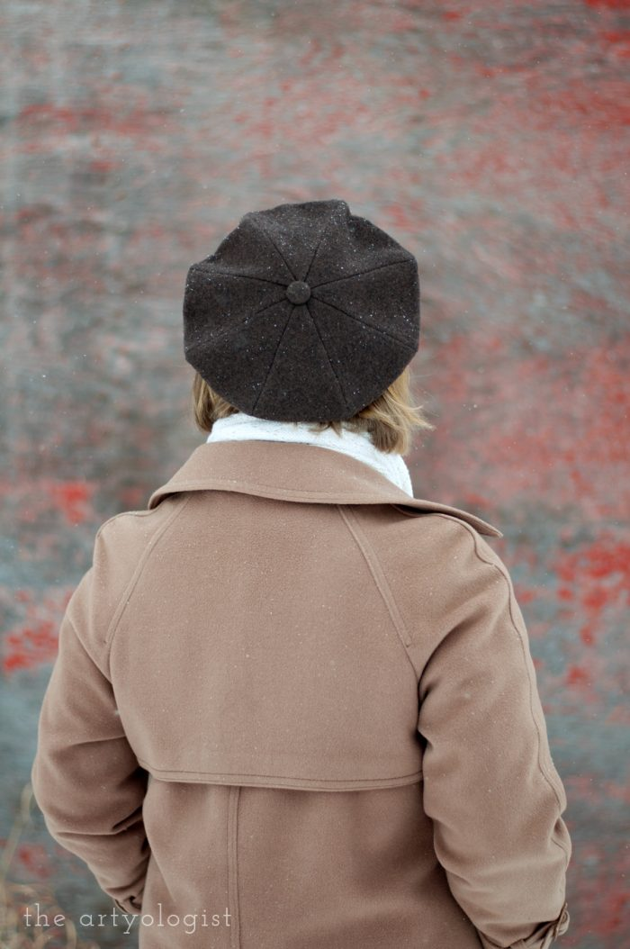 turn a shrunken sweater into a felted beret