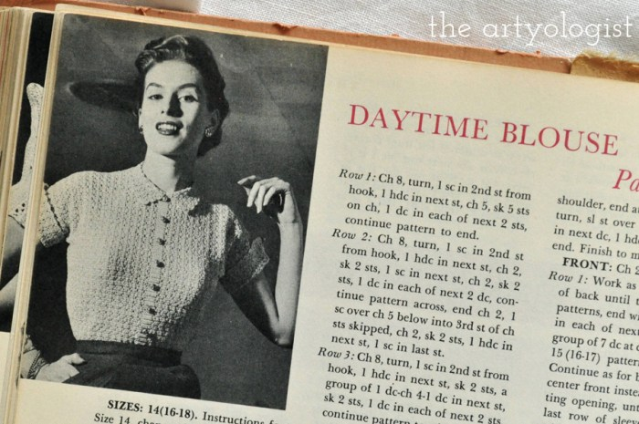 lady wearing a vintage daytime blouse