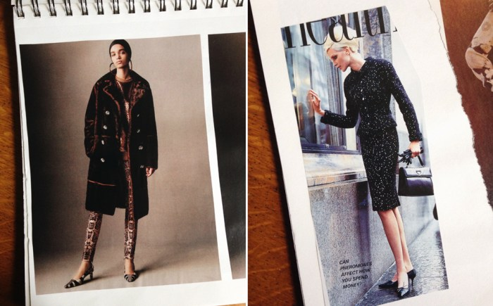 velvet and wool coat with a dramatic feel