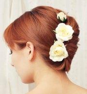 yellow rose hair clips arts