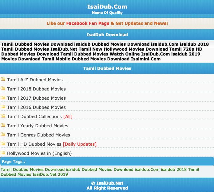 isaidub tamil movies download