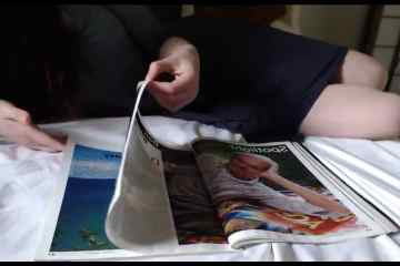 Reading Magazines In Bed