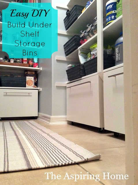 Build Under Shelf Storage Bins Yourself The Aspiring Home