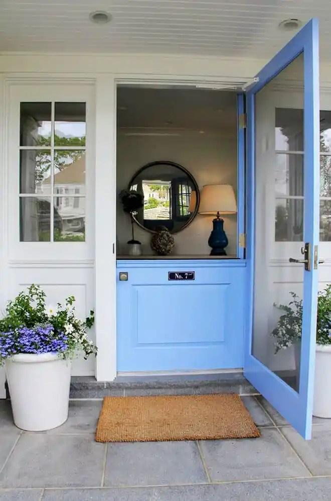 Dutch-door.-Dutch-door.-Front-Dutch-door-painted-in-blue-paint-color.-Dutchdoor-Frontdoor-BlueDutchDoor-Bluedoor-PaintColor-Brooks-and-Falotico-Associates-Inc.
