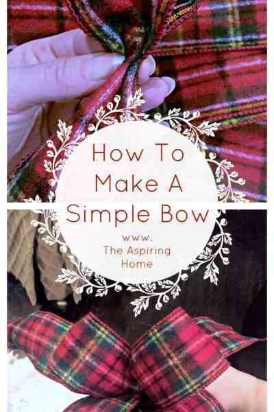 How to Make a Simple Christmas Bow
