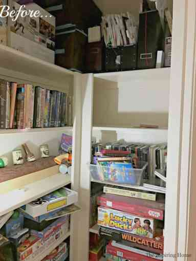 game room closet organization The Aspiring Home