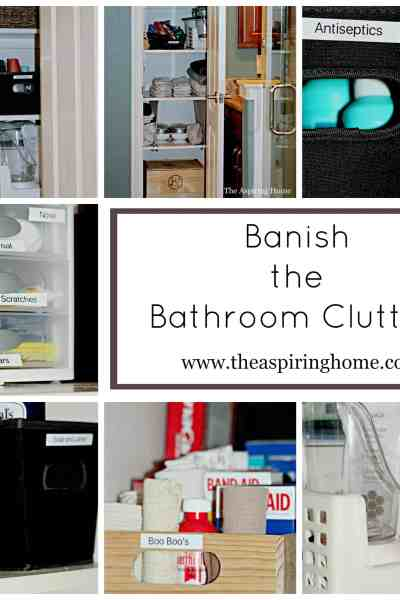 Banish The Bathroom Clutter
