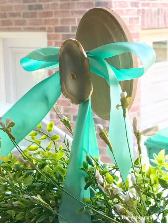 Geode wreath hanger DIY19