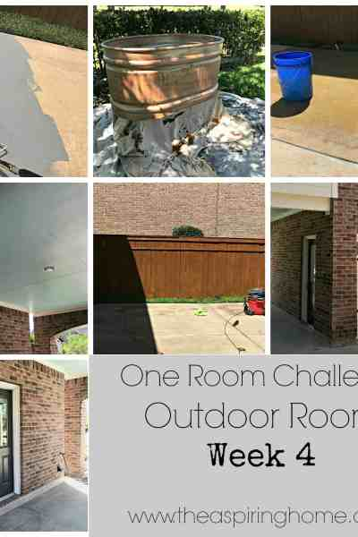 Outdoor Room Details – Week 4 – Coming Together!