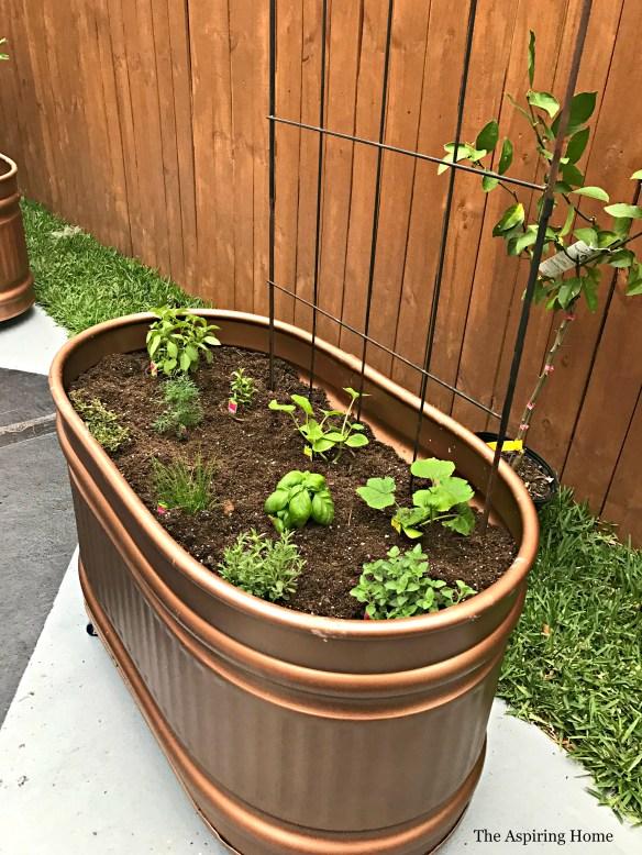 gardentroughagedcopperdiyaspiringhome
