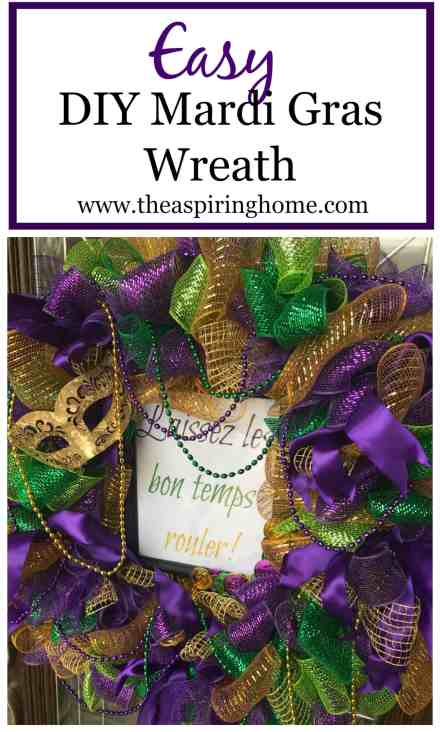 DIY Mardi Gras Wreath