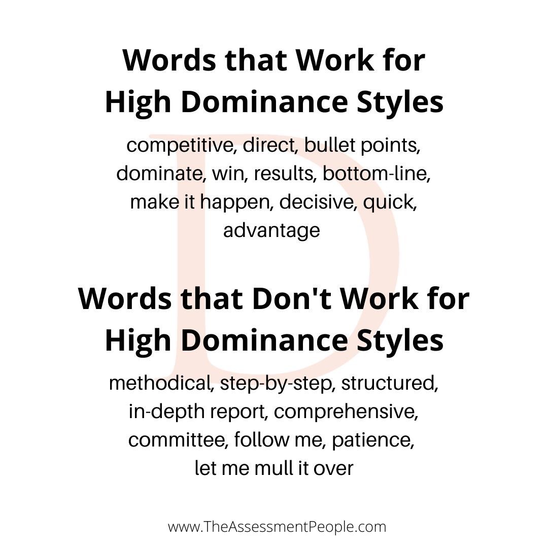 Dominance Words