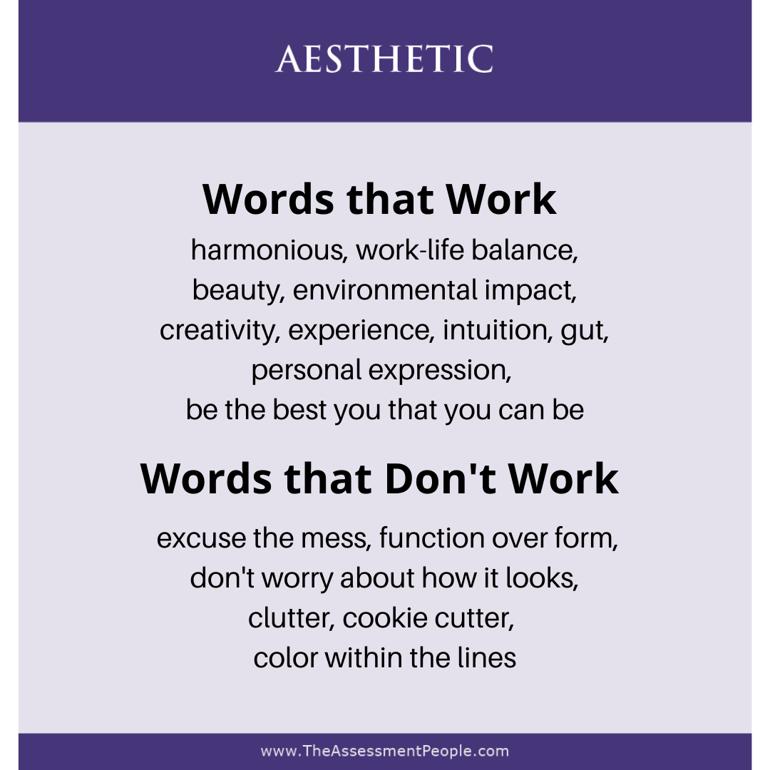 Motivators Aesthetic Words