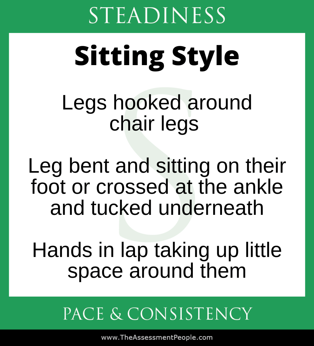 DISC Steadiness Sitting Style