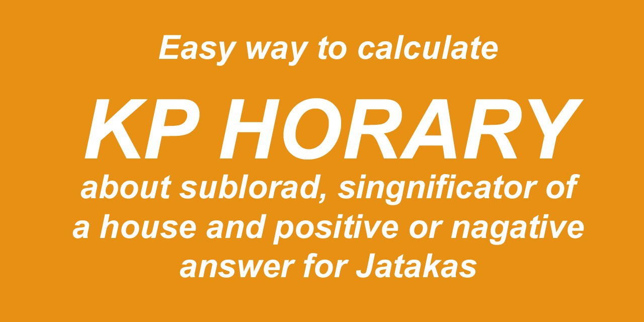 Horary method of calculation