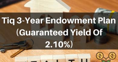 Tiq 2.10%p.a 3-Year Endowment Plan!