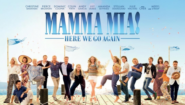 Mamma Mia! Here We Go Again, Lady's Night donderdag 20 september om 20:00 uur en regulier op dinsdag  25 september om 14:00 uur
