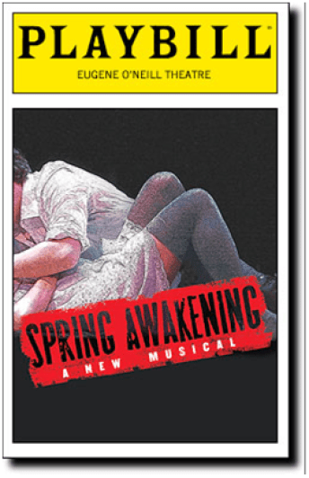 Spring Awakening Playbill cover