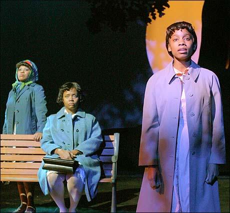 Anika Noni Rose, Tonya Pinkins (center), and Chandra Wilson in Caroline, or Change