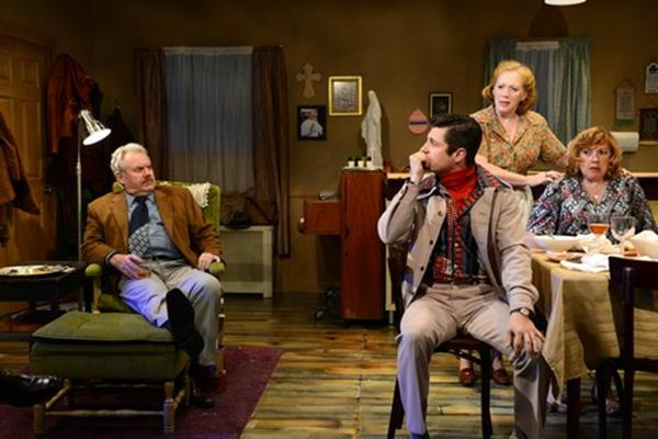 """Peter Cormican, James Mitchell Lambert, Kate Kearney-Patch and Paula Ewin in a scene from """"The Brightness of Heaven"""" (Photo credit: John Quilty)"""