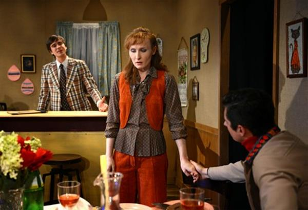 "Mark Banik, Kendall Rileigh and James Michael Lambert in a scene from ""The Brightness of Heaven"" (Photo credit: John Quilty)"