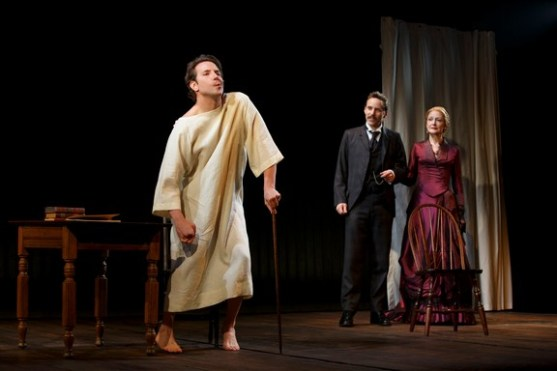 """Bradley Cooper, Alessandro Nivola and Patricia Clarkson in a scene from """"The Elephant Man"""" (Photo credit: Joan Marcus)"""