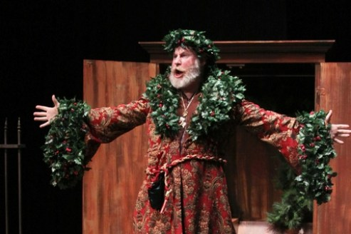 """Michael Selkirk as The Ghost of Christmas Past in Titan Theatre Company's """"A Chirstmas Carol"""""""