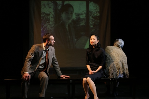 "Benjamin Jones and Roseanne Ma in a scene from Damon Chua's ""Film Chinois"" (Photo credit: John Quincy Lee)"
