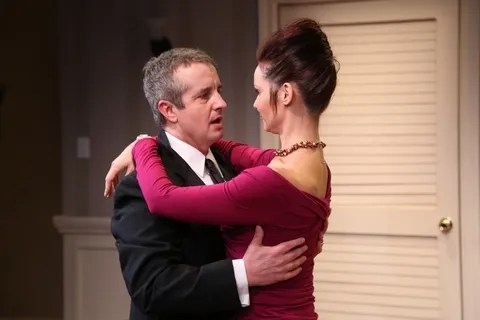 "Grant Shaud and Florencia Lozano in a scene from Maggie Bofill's ""Winners"" (Photo credit: Gerry Goodstein)"