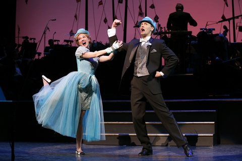 "Patti Murin and Danny Gardner in a scene from The Gershwins' ""Lady, Be Good!"" (Photo credit: Carol Rosegg)"