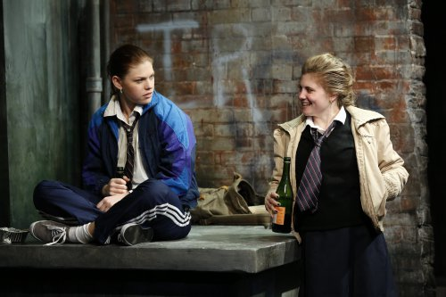 "Kate Lydic and Arielle Hoffman in a scene from ""The Belle of Belfast"" (Photo credit: Carol Rosegg)"