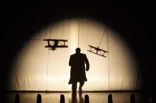 """Robert Petkoff in a scene from """"39 Steps"""" (Photo credit: Joan Marcus)"""