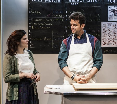 """Diane Davis and Nick Cordero in a scene from Melissa Ross' """"Nice Girl"""" (Photo credit: Monique Carboni)"""