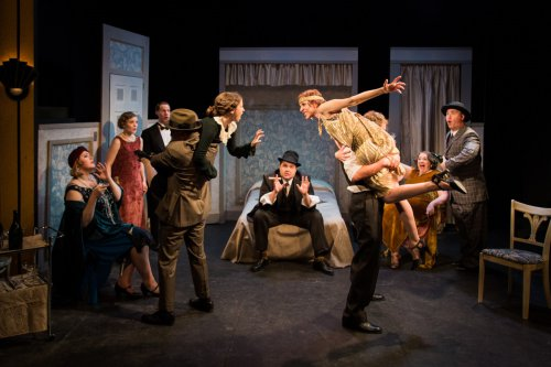 """The cast of Retro Production's revival of George S. Kaufman's """"The Butter and Egg Man""""(Photo credit: Kyle Connolly)"""