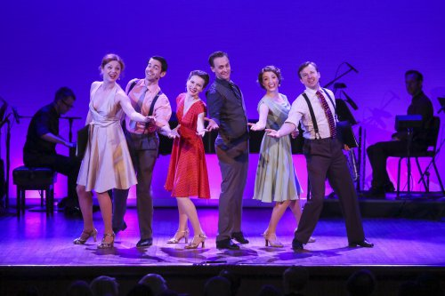 "Kristen Beth Williams, Con O'Shea-Creal, Kristie Kerwin, Danny Gardner, Darien Crago and Drew Humphrey in ""All Dancing! All Singing! Irving Berlin in Hollywood"" (Photo credit: Richard Termine)"
