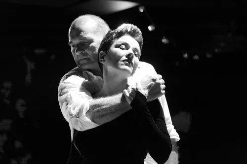 "Pascal Rioult as Marcel Cerdan and Christine Andreas as Edith Piaf in a scene from ""Street Singer: Celebrating the Life of Edith Piaf"" (Photo credit: Paul B. Goode)"