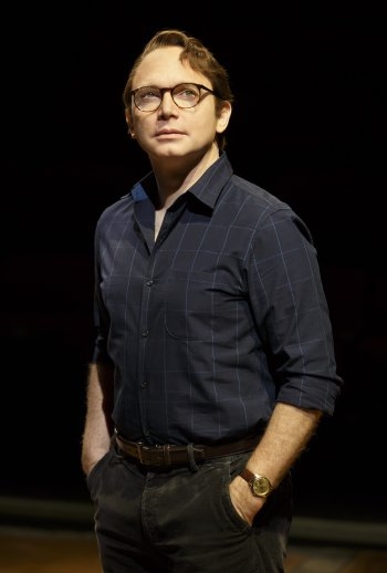 "Micheal Cerveris as Bruce Bechdel in a scene from ""Fun Home"" (Photo credit: Joan Marcus)"