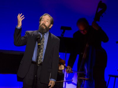 """Jonathan Hadary singing the role of Tevya at the 92Y's Lyrics & Lyricists Series: """"To Life! Celebrating 50 Years of 'Fiddler on the Roof'"""" (Photo credit: Richard Termine)"""